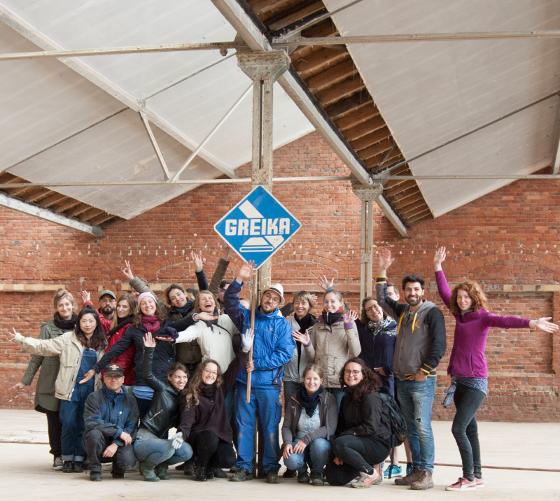 Gruppenfoto der Teilnehmer an der Bauaufnahmekampagne SS2018 in Berga