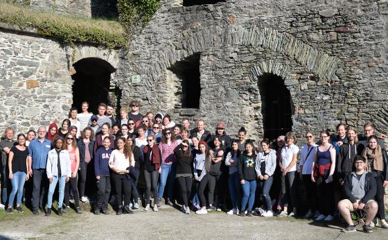 Gruppenfoto der Teilnehmer an der Bauaufnahmekampagne SS2018 in Königstein