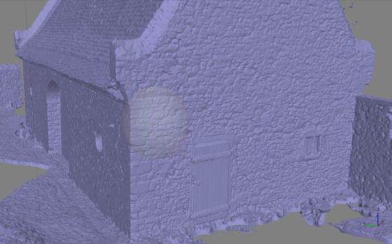 Flächen-Modell der Scheune